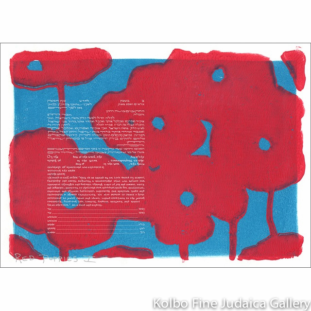 Red Poppies I Ketubah
