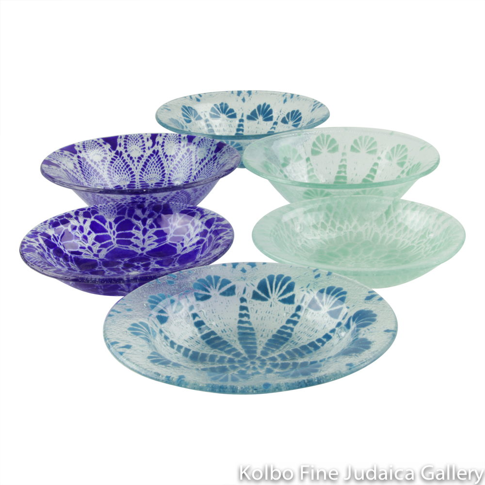 Serving Dish, Assorted Glass Patterns, Various Colors and Sizes