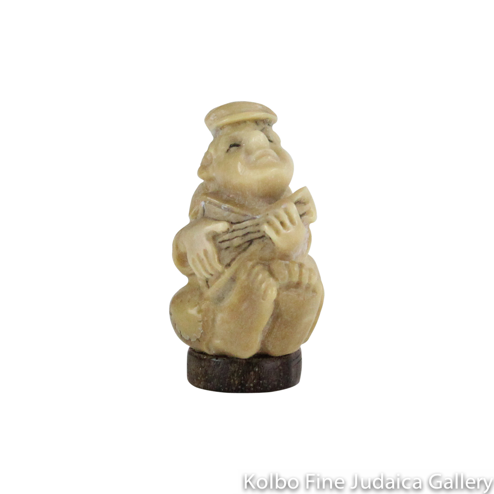 Collectable, Lute Player, Small Size, Hand-Carved from Tagua Nut