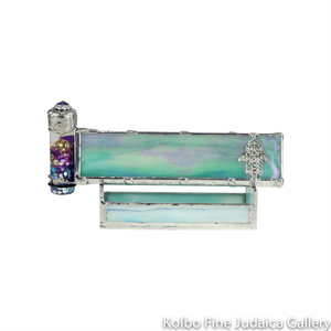 Kaleidoscope and Stand, Hamsa Design, Soft Teal