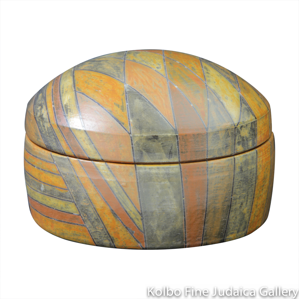 Round Box #6, One-of-a-Kind Stoneware Made Using Terra Sigillata