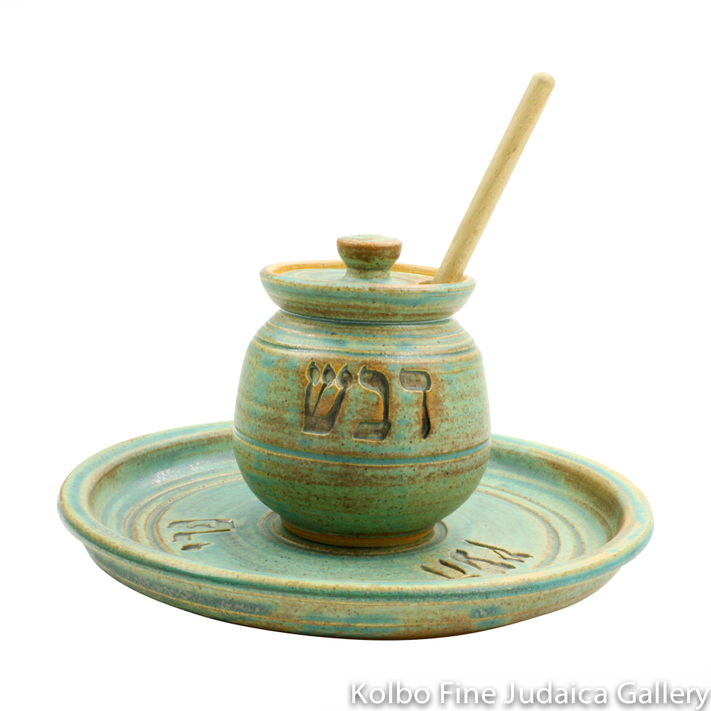 Honey and Apple Set, Ceramic with Patina Glaze