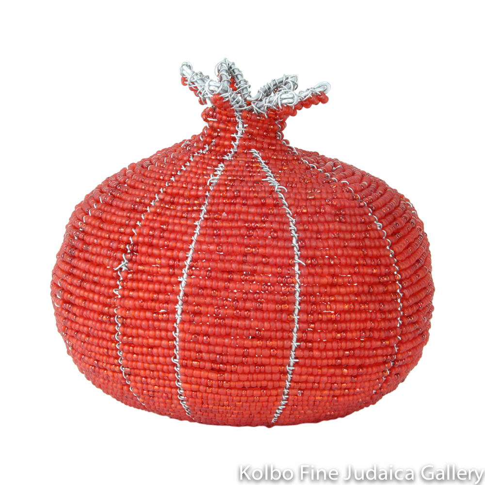 Pomegranate Sculpture, Medium Sized, Beading on Wire