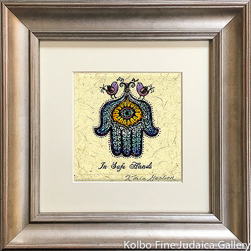 In Safe Hands, Mini, Hand-Painted, Framed