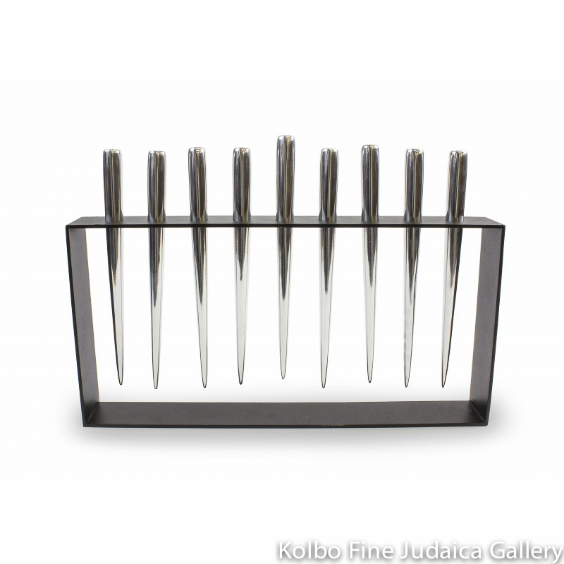 Menorah, Industrial Chic Design with Icicles, Steel and Aluminum