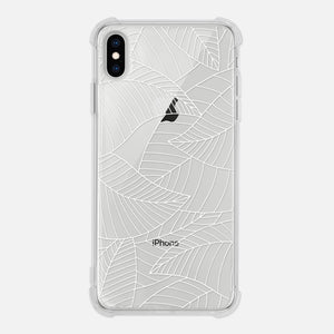 Leaves Tree Leaf Plant Nature Line Drawing White Simple Minimalist Clear iPhone Case for XR XS Max X 8 7 6 6s Plus - By Happy Cat Prints