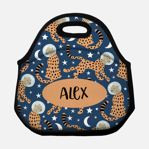 Space Cheetah Personalized Lunch Bag