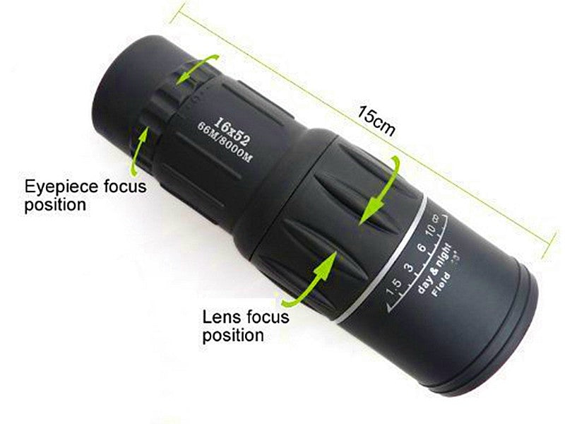 Dual focus monocular telescope waterproof spotting scopes