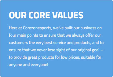 Core Zone Sports Our Values