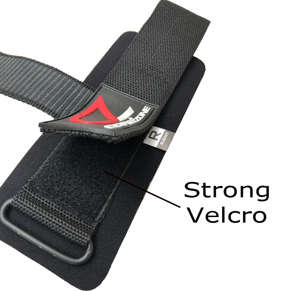 Padded Heavy Lifting Grips Straps Black