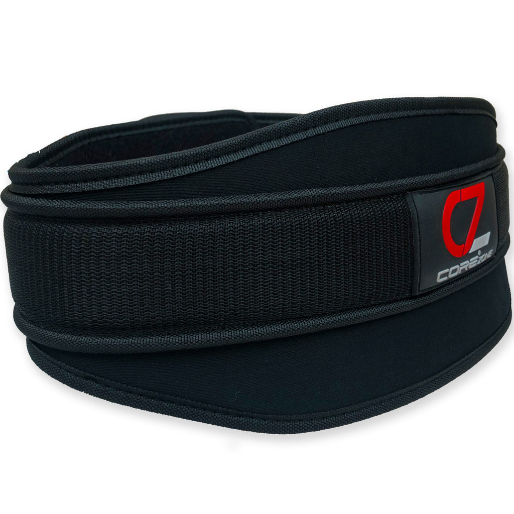 "COREZONE 6"" Neoprene Weight Lifting Belt - Black"