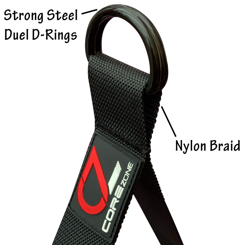 Heavy Duty D-Ring Gym Handles (Pair)