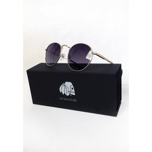 NO4 GOLD WIRE FRAME SUNGLASSES