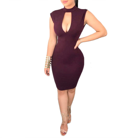2018 New Arrival women fashion summer dress sleeveless Low cut lace patchwork Backless Sexy dress Club Wear bodycon pencil dress