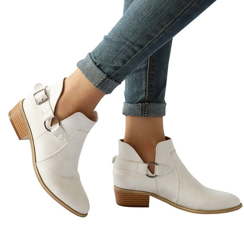 Fashion Women Boots Pointed Toe Martin Boots Classic Ankle Boots  Casual Shoes