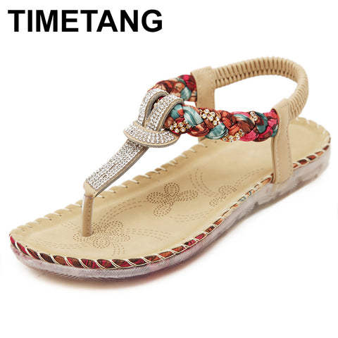 e677f2510264 TIMETANG Women Sandals Bohemia Women Casual Shoes Sexy Beach Summer Girls Flip  Flops Gladiator Fashion Cute