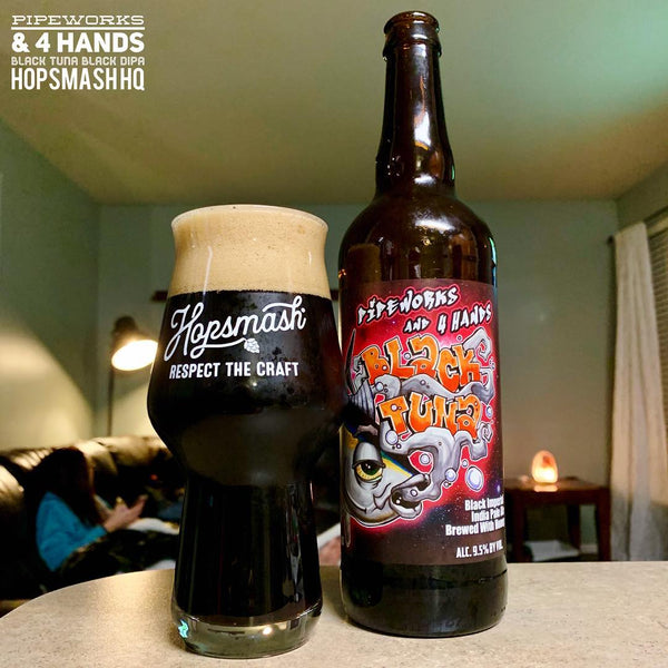 Pipeworks & 4 Hands - Black Tuna Black Double IPA