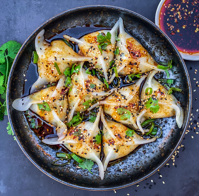 Chicken, lemongrass and coriander dumplings