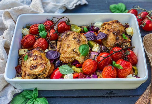 Chicken and Veggie tray bake