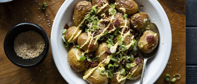 Lucky Potatoes with Bacon & Mayo