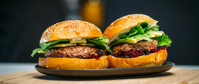 Phat Angus Beef Burgers with Beetroot Chutney