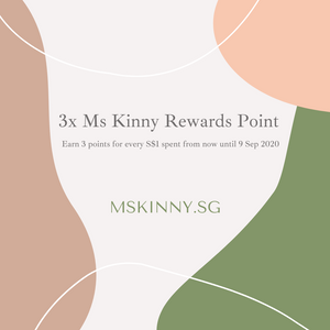 Ms Kinny TRIPLE Points Week - Earn 3 Points For Every Dollar Spent