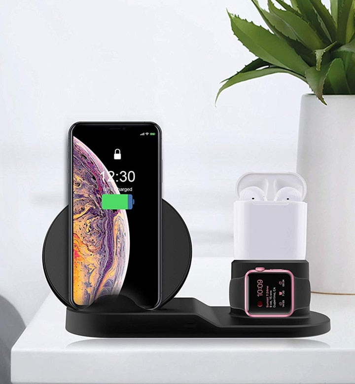 3 in 1 Fast Wireless 10W Charging Dock for Apple and Samsung