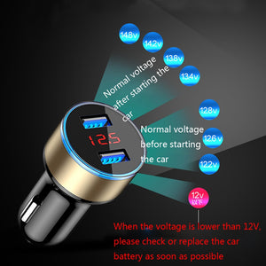 3.1A 5V Dual USB Car Charger With LED Display