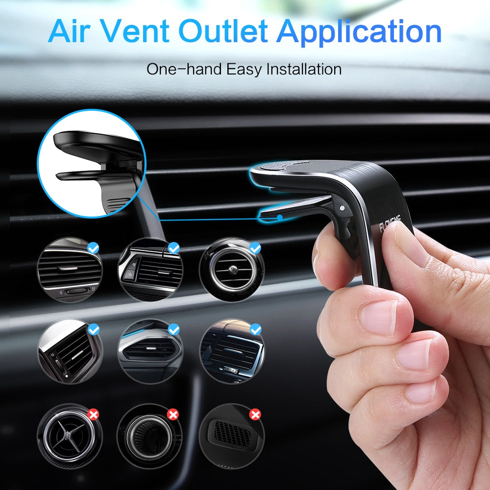 Magnetic Car Phone Holder For Tablets And Smartphones