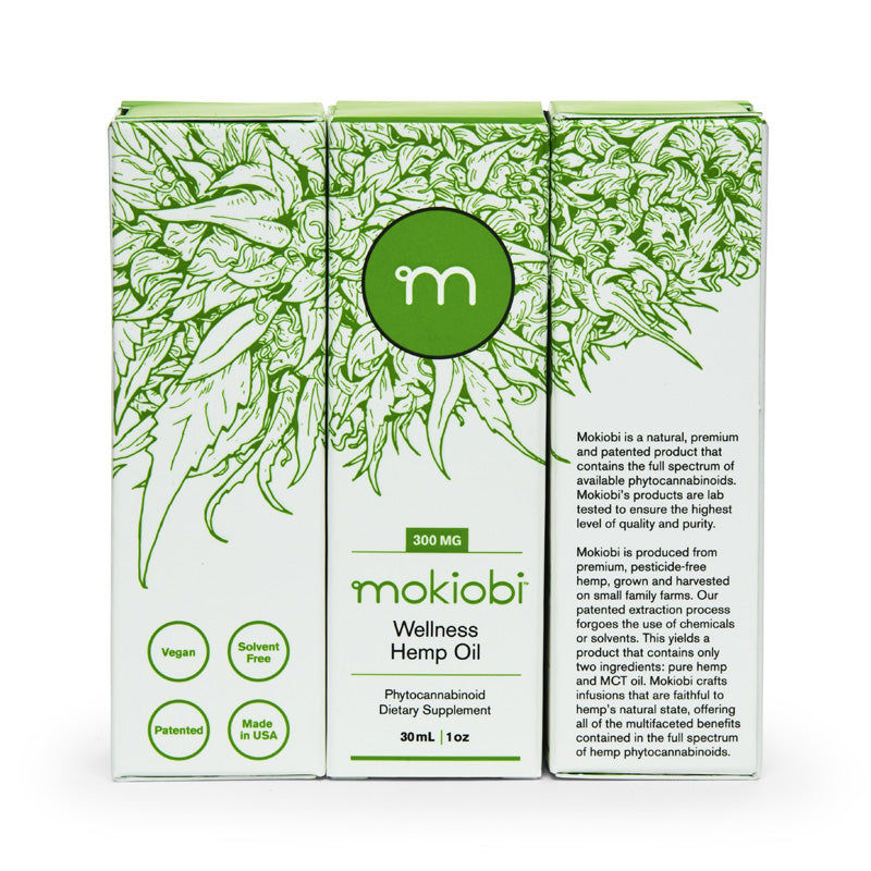Mokiobi Full Spectrum Tincture (350mg), Green Market CBD