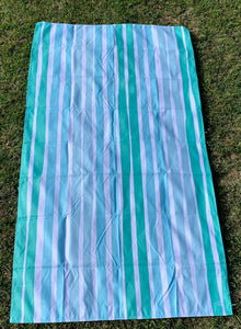 Giant Aruba Stripe Microfiber Beach Towel | Mint / Sky Blue / Water