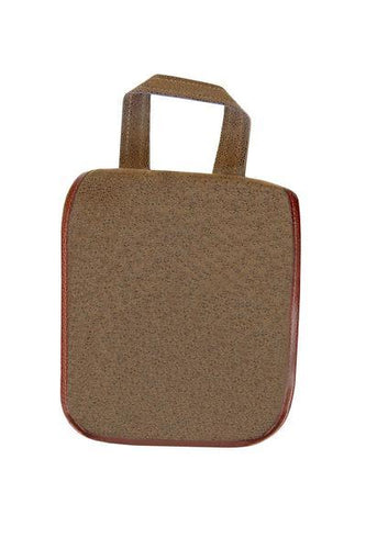 Brown Faux Suede Hanging Toiletries Kit