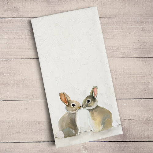 GreenBox Art | Baby Bunnies Tea Towel
