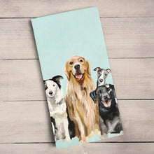 Load image into Gallery viewer, GreenBox Art | Best Friends - Puppy Pack Tea Towel