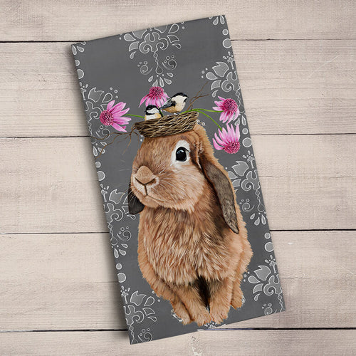 GreenBox Art | Bubblegum Bunny Tea Towel