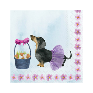 Bunny Dogs Beverage Napkins