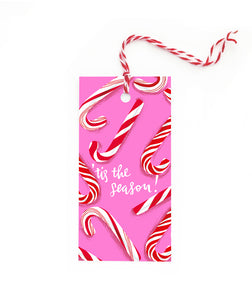 Christmas Candy Canes Gift Tag Set