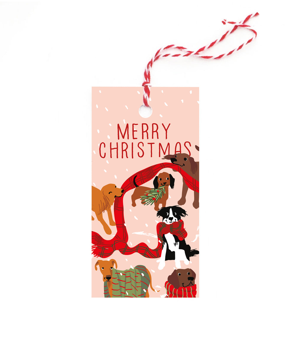 Christmas Dogs Gift Tag Set