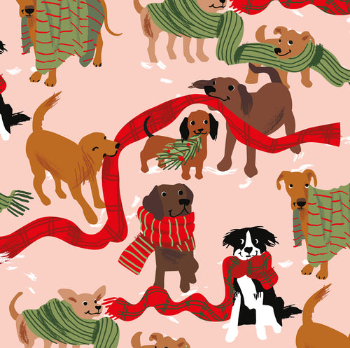 Christmas Dogs Gift Wrap Sheets