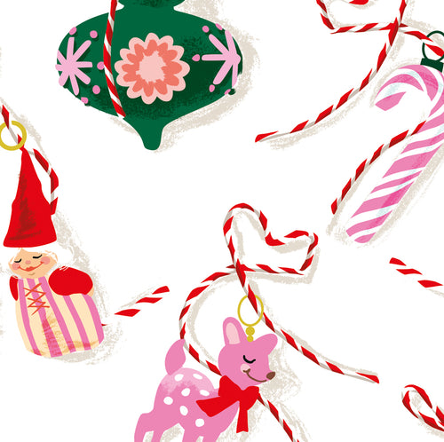 Christmas Decorations Gift Wrap Sheets