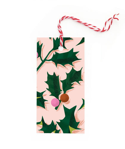 Christmas Holly Gift Tag Set
