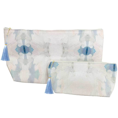 Laura Park Designs | Coral Bay Blue Cosmetic Bag