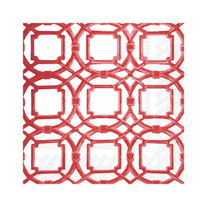 Red Courtyard Beverage Napkins
