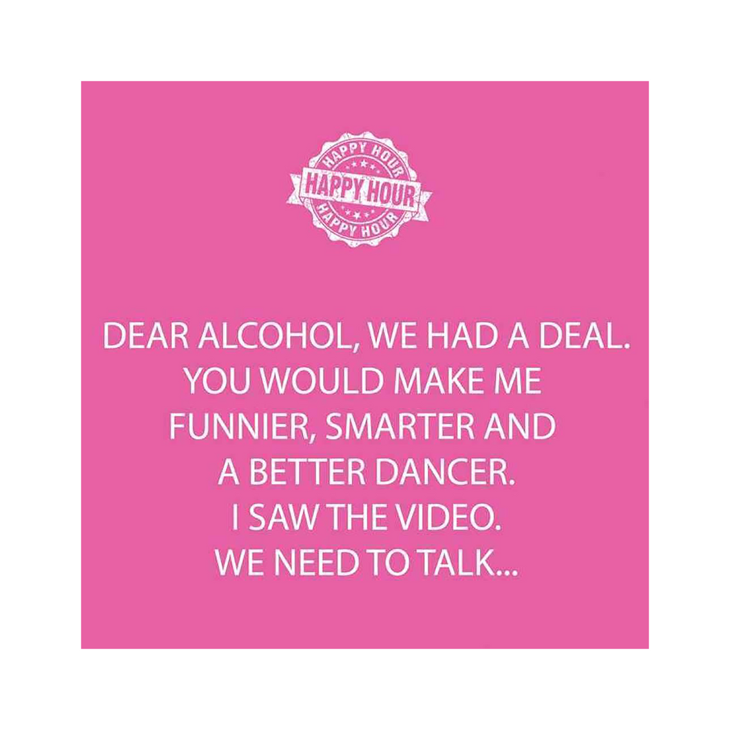 Dear Alcohol Beverage Napkins