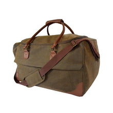 Load image into Gallery viewer, Brown Faux Suede Duffle Bag