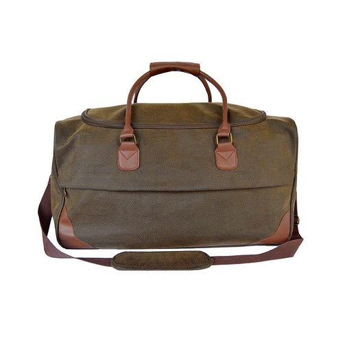 Brown Faux Suede Duffle Bag