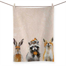 Load image into Gallery viewer, GreenBox Art | Fall Thankful Raccoon Tea Towel