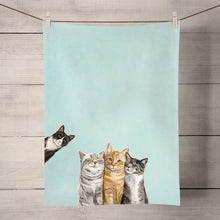 Load image into Gallery viewer, GreenBox Art | Feline Friends Tea Towel