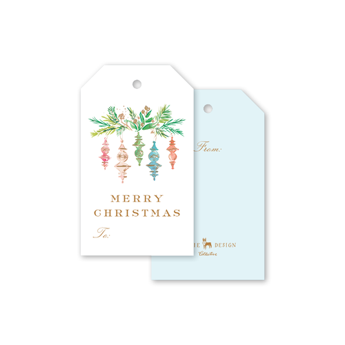 Dixie Design / Dogwood Hill | Finial Ornaments Gift Tags