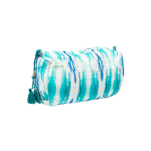 Laura Park Designs | Flower Child Teal Quilted Cosmetic Bag